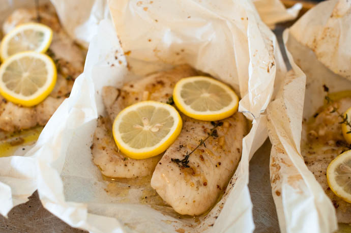 Tilapia Baked en Papillote with a French Vinaigrette by Cook Smarts