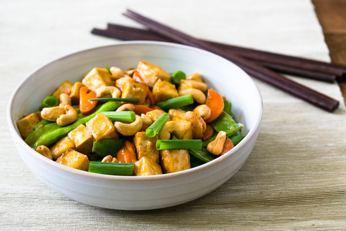 Cashew Tofu Carrots and Snow Pea Stir-Fry Recipe by Cook Smarts