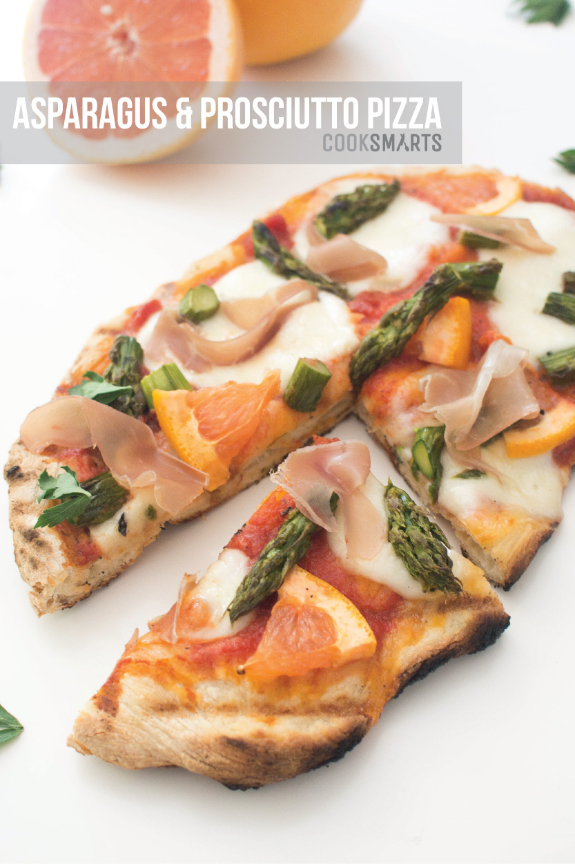 Weeknight Meals via @CookSmarts: Asparagus and Prosciutto Pizza #recipe