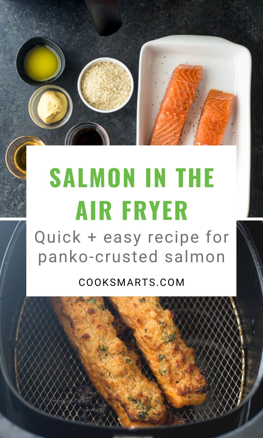 Air Fryer Salmon with Panko Crust Recipe | Cook Smarts